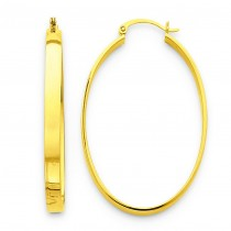 Lightweight Oval Hoop Earrings in 14k Yellow Gold