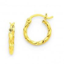 Twist Hoop Earrings in 14k Yellow Gold