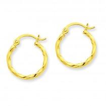 Twist Hoop Earrings in 14k Yellow Gold