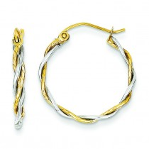 Twisted Hoop Earrings in 14k Two-tone Gold