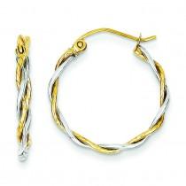 Twisted Hoop Earrings in 14k Two-tone Gold