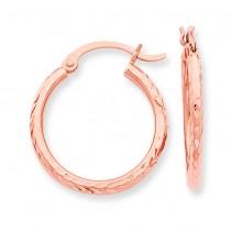D C Hoop Earrings in 14k Rose Gold