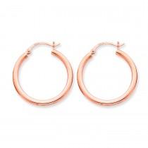 Rose Gold Hoop Earrings in 14k Rose Gold