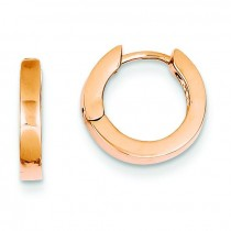 Round Hinged Hoop Earrings in 14k Rose Gold