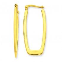 Rectangle Hoop Earrings in 14k Yellow Gold