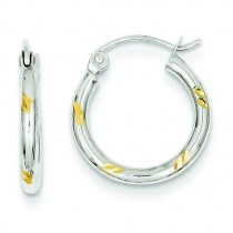 Hoop Earrings in 14k Two-tone Gold