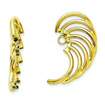 Swirl Shaped Earrings Jackets in 14k Yellow Gold