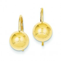 Hollow Half Ball Earrings in 14k Yellow Gold