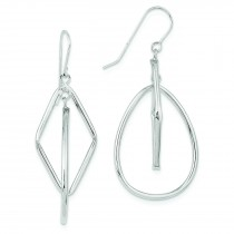 Tier Dangle Wire Earrings in 14k White Gold