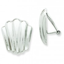 Non Pierced Omega Back Earrings in 14k White Gold