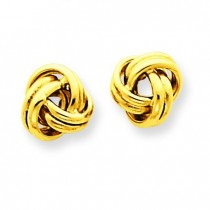 Love Knot Post Earrings in 14k Yellow Gold