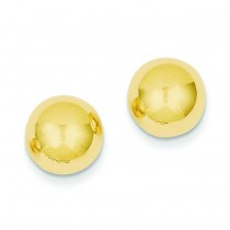 Ball Post Earrings in 14k Yellow Gold
