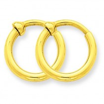 Non-Pierced Hoop Earrings in 14k Yellow Gold