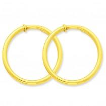 Non-Pierced Hoop Earrings in 14k Yellow Gold