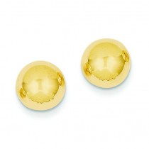9 Ball Post Earrings in 14k Yellow Gold
