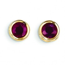 Ruby Stud Earrings in 14k Yellow Gold