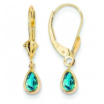 Blue Topaz Earrings in 14k Yellow Gold