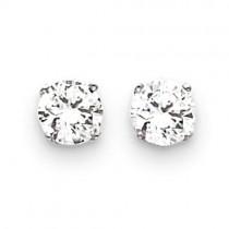 CZ Stud Earrings in 14k White Gold