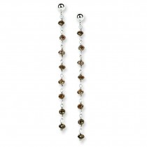 Chocolate Diamond Briolette Earrings in 14k White Gold (2.2 Ct. tw.) (2.2 Ct. tw.)