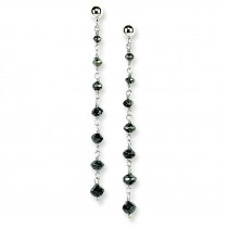 Black Diamond Briolette Earrings in 14k White Gold (1.55 Ct. tw.) (1.55 Ct. tw.)