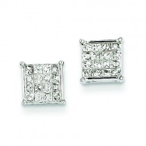 Diamond Earrings in 14k White Gold (0.47 Ct. tw.)