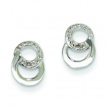 Diamond Earrings in 14k White Gold (0.01 Ct. tw.) (0.01 Ct. tw.)