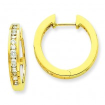 Diamond Hoop Earrings in 14k Yellow Gold (0.5 Ct. tw.) (0.5 Ct. tw.)