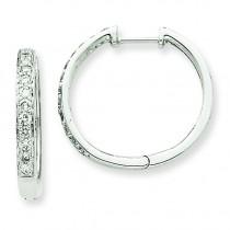 Diamond Hoop Earrings in 14k White Gold (0.5 Ct. tw.) (0.5 Ct. tw.)