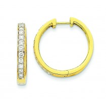 Diamond Hoop Earrings in 14k Yellow Gold (0.75 Ct. tw.) (0.75 Ct. tw.)