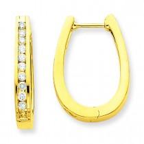 Diamond Hoop Earrings in 14k Yellow Gold (0.5 Ct. tw.) (0.5 Ct. tw.)