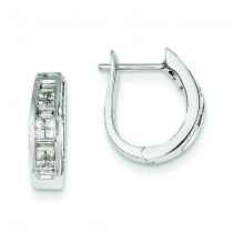 Diamond Hinged Earrings in 14k White Gold