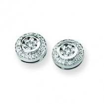 Diamond Earrings in 14k White Gold (0.5 Ct. tw.)