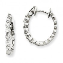 Diamond Earring in 14k White Gold
