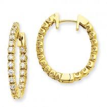 Diamond Earring in 14k Yellow Gold