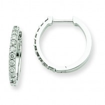 Diamond Hoop Earrings in 14k White Gold (0.22 Ct. tw.)