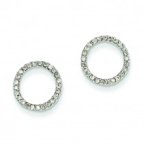 4Ctw Circle Diamond Earrings in 14k White Gold