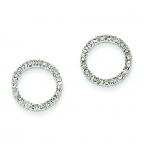 Ctw Circle Diamond Earrings in 14k White Gold