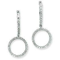 Diamond Double Hoop Earrings in 14k White Gold