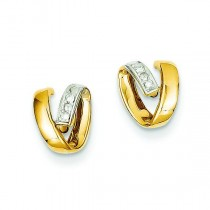 And Rhodium Diamond Earrings in 14k Yellow Gold