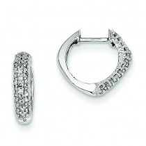 Diamond Hinged Heart Earrings in 14k White Gold