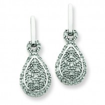 Diamond Post Earrings in 14k White Gold