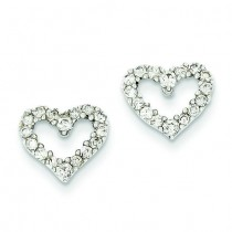 Diamond Heart Earrings in 14k White Gold (0.5 Ct. tw.) (0.5 Ct. tw.)