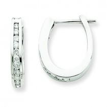 Diamond Hoop Earrings in 14k White Gold (0.33 Ct. tw.) (0.33 Ct. tw.)