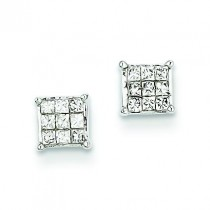 Diamond Earrings in 14k White Gold (0.25 Ct. tw.)