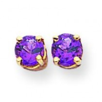 Amethyst Earrings in 14k Yellow Gold