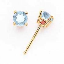Aquamarine Earrings in 14k Yellow Gold