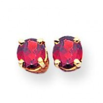 Garnet Earrings in 14k Yellow Gold