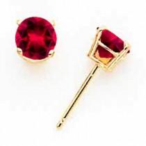 Ruby Earrings in 14k Yellow Gold