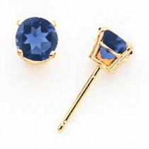 Sapphire Earrings in 14k Yellow Gold