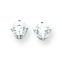Cubic Zirconia Earrings in 14k White Gold